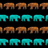 Abstrakcjonistyczny geometryczny niedźwiadkowy bezszwowy deseniowy tło Zdjęcie Royalty Free