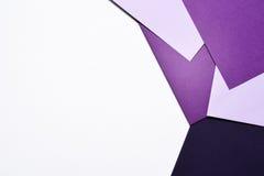 Abstrakcjonistyczny geometryczny papierowy origami tło Zdjęcia Stock