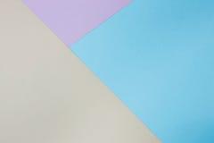 Abstrakcjonistyczny geometryczny papierowy tło Błękit, menchia, pomarańczowi trendów kolory Obrazy Royalty Free