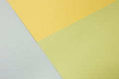 Abstrakcjonistyczny geometryczny papierowy tło Zieleń, błękit i żółci trendów kolory, Zdjęcia Royalty Free