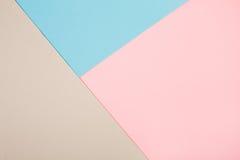 Abstrakcjonistyczny geometryczny papierowy tło Fotografia Stock
