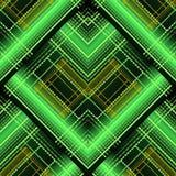 Abstrakcjonistyczny geometryczny pasiasty wektoru 3d bezszwowy wzór Jaskrawy sh royalty ilustracja