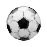 Abstrakcjonistyczny geometryczny poligonalny futbol. Piłka nożna royalty ilustracja