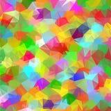 Abstrakcjonistyczny geometryczny poligonalny kolorowy tło. Zdjęcie Royalty Free