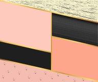 Abstrakcjonistyczny geometryczny prostokąta tło skład w czerni Fotografia Royalty Free