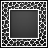 Abstrakcjonistyczny geometryczny ramowy tło Zdjęcia Stock