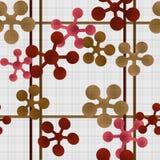 Abstrakcjonistyczny geometryczny retro bezszwowy deseniowy tło Zdjęcie Stock