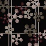 Abstrakcjonistyczny geometryczny retro bezszwowy deseniowy tło Zdjęcia Stock