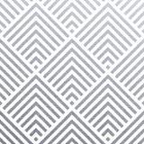 Abstrakcjonistyczny geometryczny srebro wzoru tło kwadrata lub trójboka siatki ornamentu bezszwowe płytki dla nowożytnego projekt royalty ilustracja