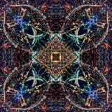 Abstrakcjonistyczny geometryczny symetryczny fractal wzór zdjęcie stock
