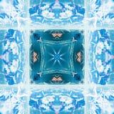 Abstrakcjonistyczny geometryczny symetryczny fractal wzór fotografia stock