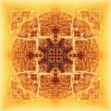 Abstrakcjonistyczny geometryczny symetryczny fractal wzór zdjęcia stock