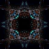 Abstrakcjonistyczny geometryczny symetryczny fractal wz?r zdjęcia stock
