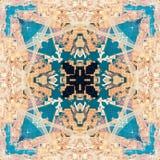 Abstrakcjonistyczny geometryczny symetryczny fractal wz?r obraz royalty free