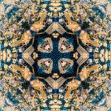 Abstrakcjonistyczny geometryczny symetryczny fractal wz?r zdjęcia royalty free