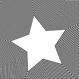 Abstrakcjonistyczny geometryczny sztuka wizerunek Monochrom czarny i biały ilustracja wektor