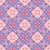 Abstrakcjonistyczny geometryczny tło - bezszwowy wektoru wzór w fiołku, menchiach i bzów kolorach, Etniczny boho styl wystroju eu Zdjęcie Stock