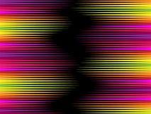 Abstrakcjonistyczny geometryczny tło, jaskrawy, czerni przestrzeń tworzy złudzenie ruch ilustracji