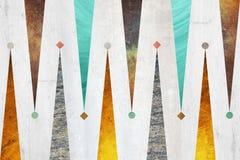 Abstrakcjonistyczny geometryczny tło projekt Geometryczni kształty z naturalną teksturą Retro etykietka projekt, printable Zdjęcia Royalty Free