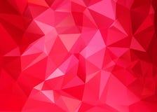Abstrakcjonistyczny geometryczny tło trójgraniaści wieloboki Retro mozaika trójboka jaskrawy modny wzór dla sieci, biznesowy szab royalty ilustracja