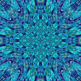 Abstrakcjonistyczny geometryczny tło w cyraneczce, turkusie i błękicie, barwi, etniczny boho styl, mozaika ornament Abstrakcjonis Fotografia Stock