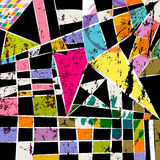 Abstrakcjonistyczny geometryczny tło wzór ilustracja wektor
