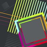 Abstrakcjonistyczny geometryczny tło z różnymi różnicami przewdoniki dla twój projekta royalty ilustracja