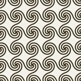 Abstrakcjonistyczny geometryczny tło z zawijasami. Obrazy Stock