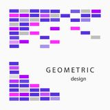 Abstrakcjonistyczny geometryczny tło projekt Minimalisty styl Obrazy Stock