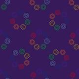 Abstrakcjonistyczny geometryczny tło, siedem ludzkich chakras, seaml Zdjęcia Royalty Free