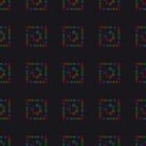 Abstrakcjonistyczny geometryczny tło, siedem ludzkich chakras, seaml Fotografia Royalty Free