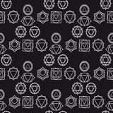 Abstrakcjonistyczny geometryczny tło, siedem ludzkich chakras, seaml Zdjęcie Royalty Free