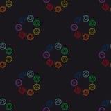 Abstrakcjonistyczny geometryczny tło, siedem ludzkich chakras, seaml Zdjęcie Stock