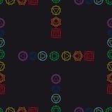 Abstrakcjonistyczny geometryczny tło, siedem ludzkich chakras, seaml Obrazy Stock