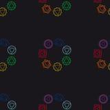 Abstrakcjonistyczny geometryczny tło, siedem ludzkich chakras, wektorowy seaml Fotografia Royalty Free