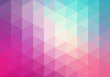 Abstrakcjonistyczny geometryczny tło, trójboki Fotografia Royalty Free