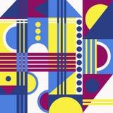 Abstrakcjonistyczny geometryczny tła 80 styl fotografia stock