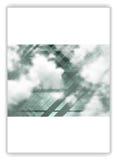 Abstrakcjonistyczny geometryczny ulotka szablonu układ z niebem i chmurami Fotografia Stock