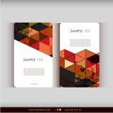 Abstrakcjonistyczny geometryczny wizytówka set Zdjęcia Stock