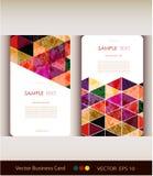 Abstrakcjonistyczny geometryczny wizytówka set Fotografia Stock