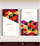 Abstrakcjonistyczny geometryczny wizytówka set Zdjęcie Stock