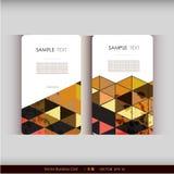Abstrakcjonistyczny geometryczny wizytówka set Obraz Royalty Free