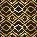 Abstrakcjonistyczny geometryczny wzór w art deco stylu Zdjęcie Stock