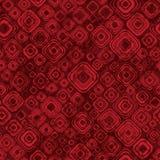 Abstrakcjonistyczny geometryczny wzór w czerwonych kolorach Fotografia Stock