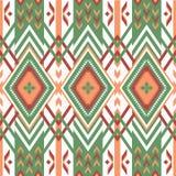 Abstrakcjonistyczny geometryczny wzór w etnicznym stylu royalty ilustracja