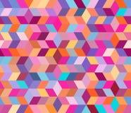 Abstrakcjonistyczny geometryczny wzór z geometrycznymi kształtami Niekończący się tło dekoracyjni elementy 10 eps royalty ilustracja