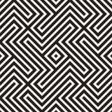 Abstrakcjonistyczny geometryczny wzór z lampasami, linie tło bezszwowy wektora Czarny i biały kratownicy tekstura royalty ilustracja