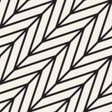 Abstrakcjonistyczny geometryczny wzór z lampasami, linie tło bezszwowy wektora Czarny i biały kratownicy tekstura ilustracja wektor