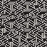 Abstrakcjonistyczny Geometryczny wzór z lampasami tło bezszwowy wektora Czarny i biały kratownicy tekstura ilustracja wektor