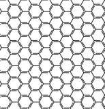Abstrakcjonistyczny geometryczny wzór z liniami, sześciany, sześciokąty, rhombus tło bezszwowy wektora Tatuażu wzór Czarny i biał Zdjęcie Stock